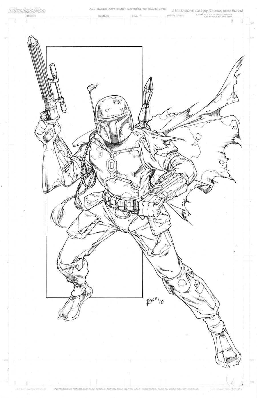 Boba Fett by pencilsandstrings