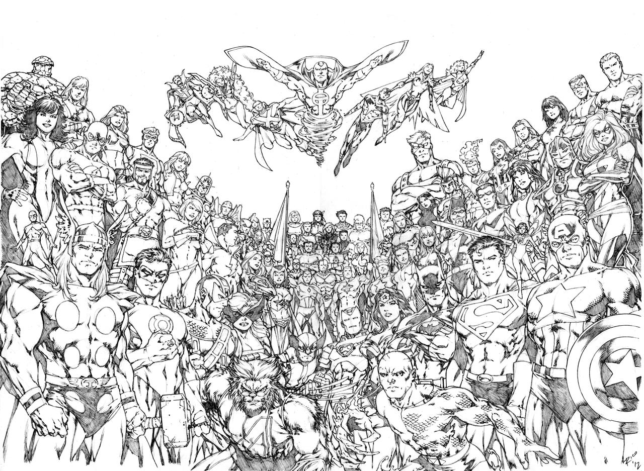 Free coloring pages justice league - Coloring Pages Justice League Coloring Pages Breadedcat Free