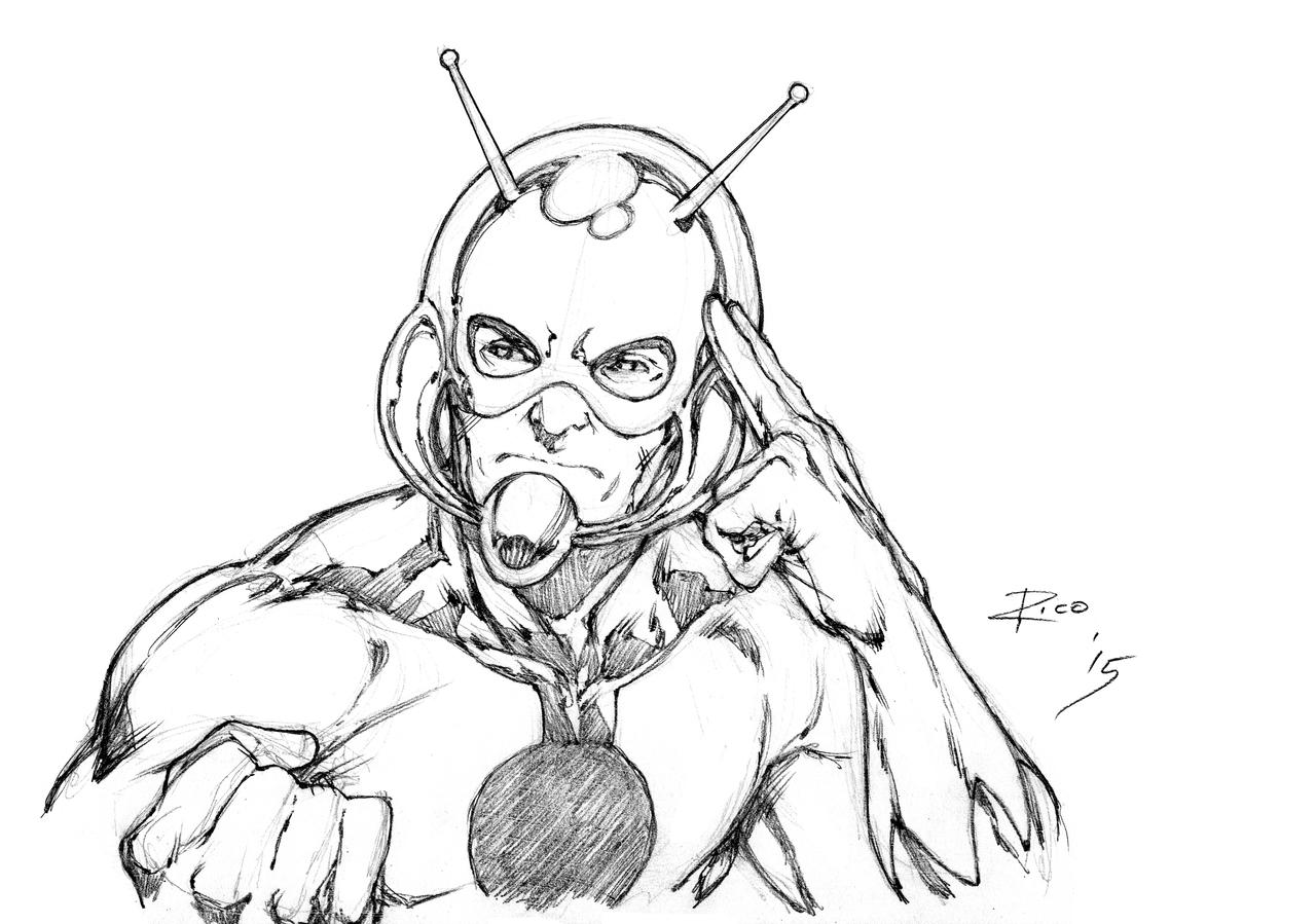 ant man 2015 coloring pages   Old skool Ant-Man by pencilsandstrings on DeviantArt