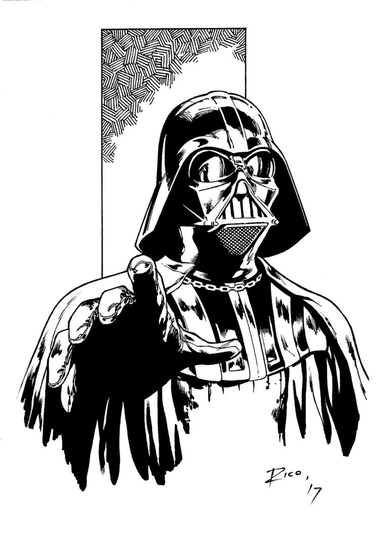 Darth vader warm up by pencilsandstrings on deviantart for Darth vader black and white