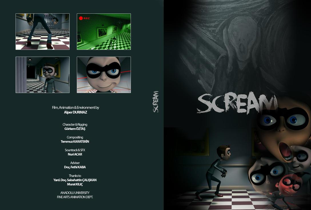 SCREAM short animation DVD kapak by alperdurmaz