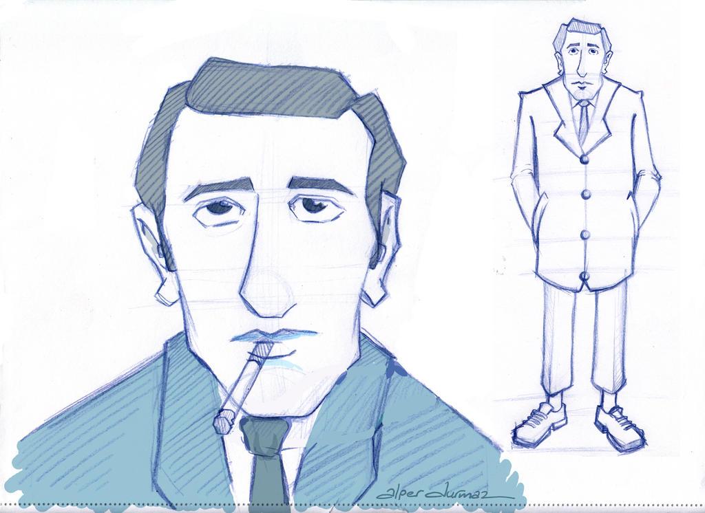 Orhan Veli sketch-1 by alperdurmaz