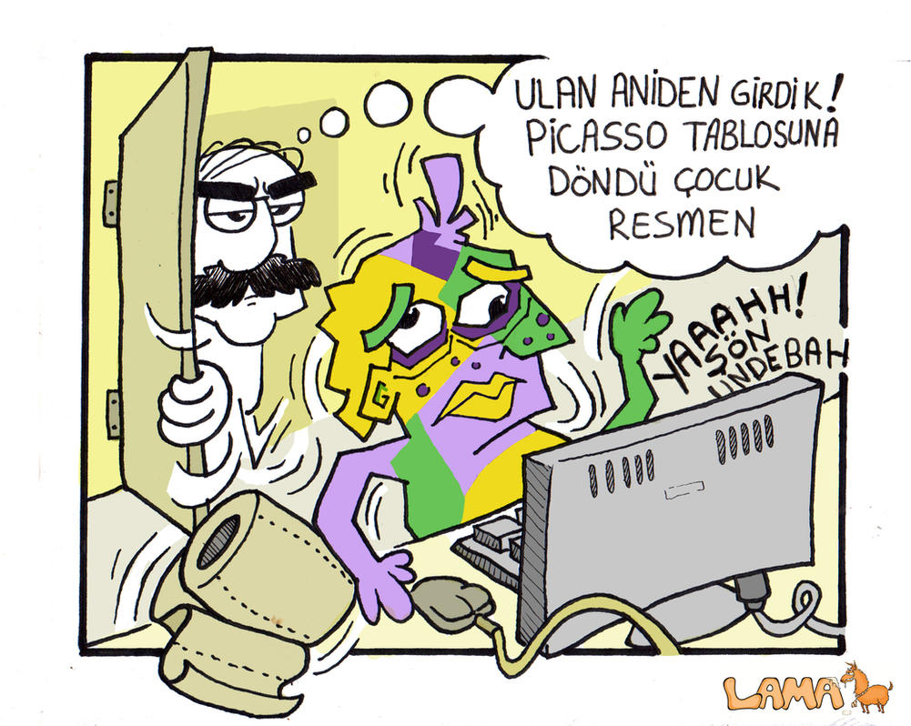 Lama Dergisi Picasso by alperdurmaz