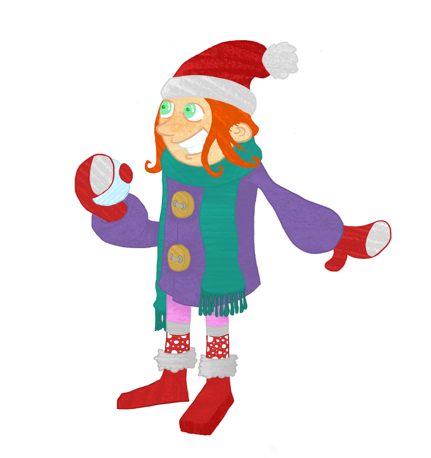 winter child - Doodle by alperdurmaz