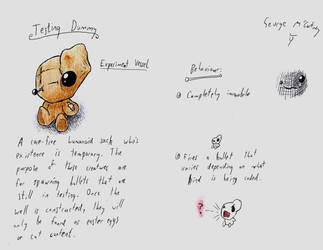 Old Concept Art 3 (Testing Dummy) by TitaniumGrunt7
