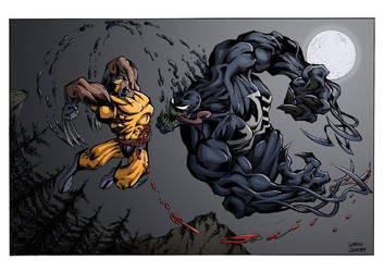 Wolverine Vs. Venom colored by GibsonQuarter27