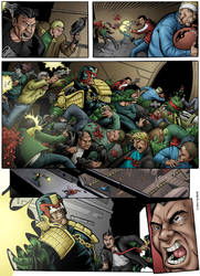 Judge Dredd page colored by GibsonQuarter27
