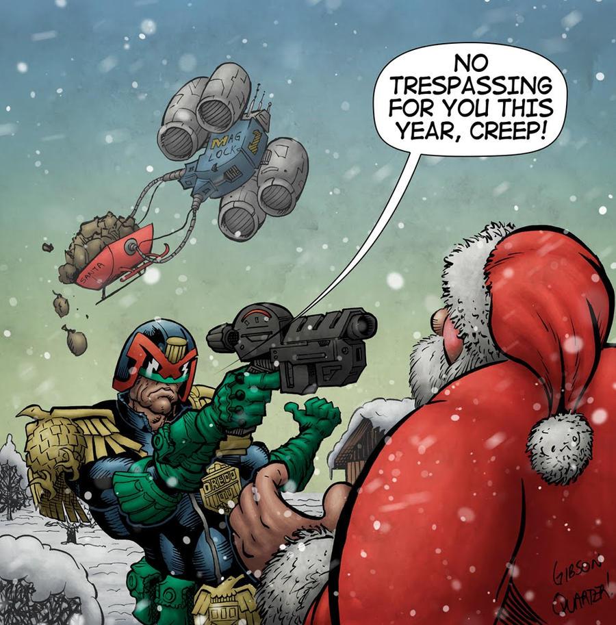 Judge Dredd Meets Santa