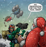 Judge Dredd Meets Santa