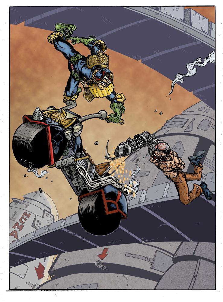 Judge Dredd -Road Rage -With Mean Machine