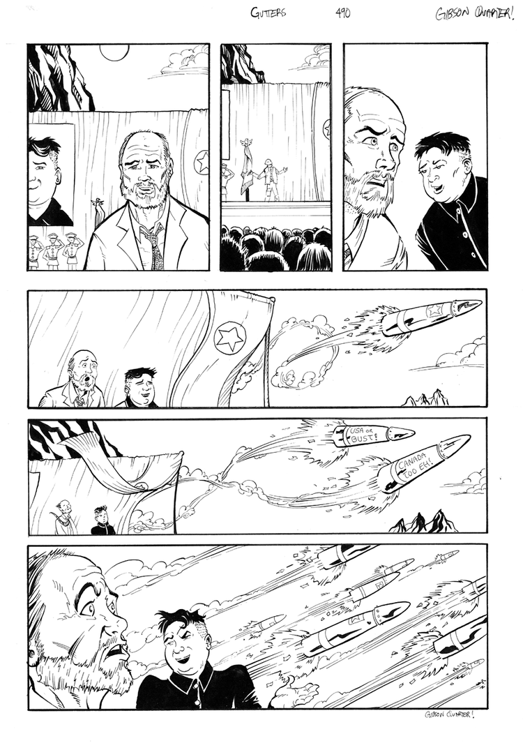 Gutters #490 -lineart Joss Whedon by GibsonQuarter27