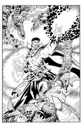 Dr. Strange vs the tentacle Monster!