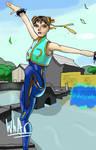 Chun li in the wind by WhateversArt