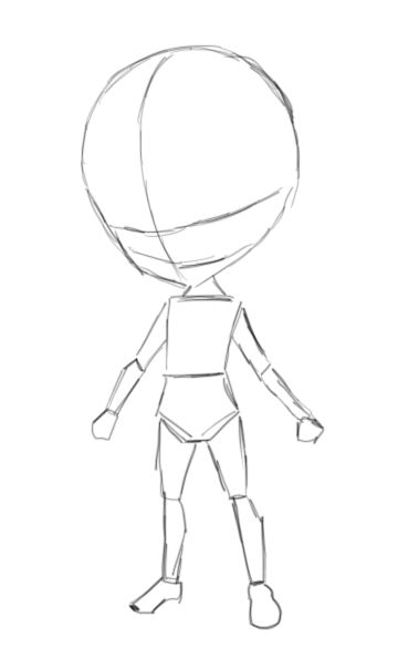 Chibi template by mackdoodle99 on deviantart for Manga character template