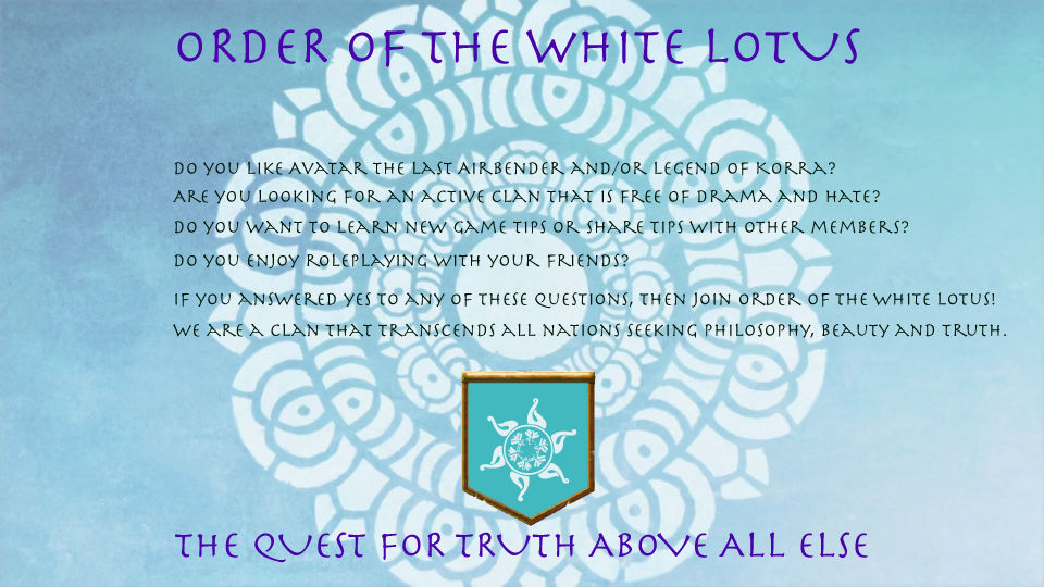 Order Of The White Lotus Clan School Of Dragons By D0thething On