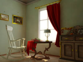 Small room with window by sergin3d2d