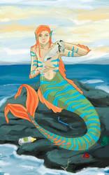 Helpfull mermaid by Klaritaa