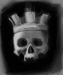 Skull with crown by Klaritaa