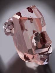 Study of pink hematite inclusions  by Klaritaa