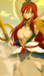 Erza's nakagami armor a wallpaper for you're phone by christioni96