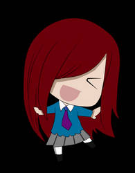 Chibi Erza colored by me by christioni96