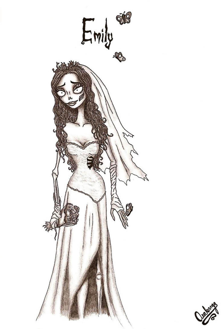 Uncategorized Corpse Bride Coloring Pages emily the corpse bride by misssleeper on deviantart misssleeper