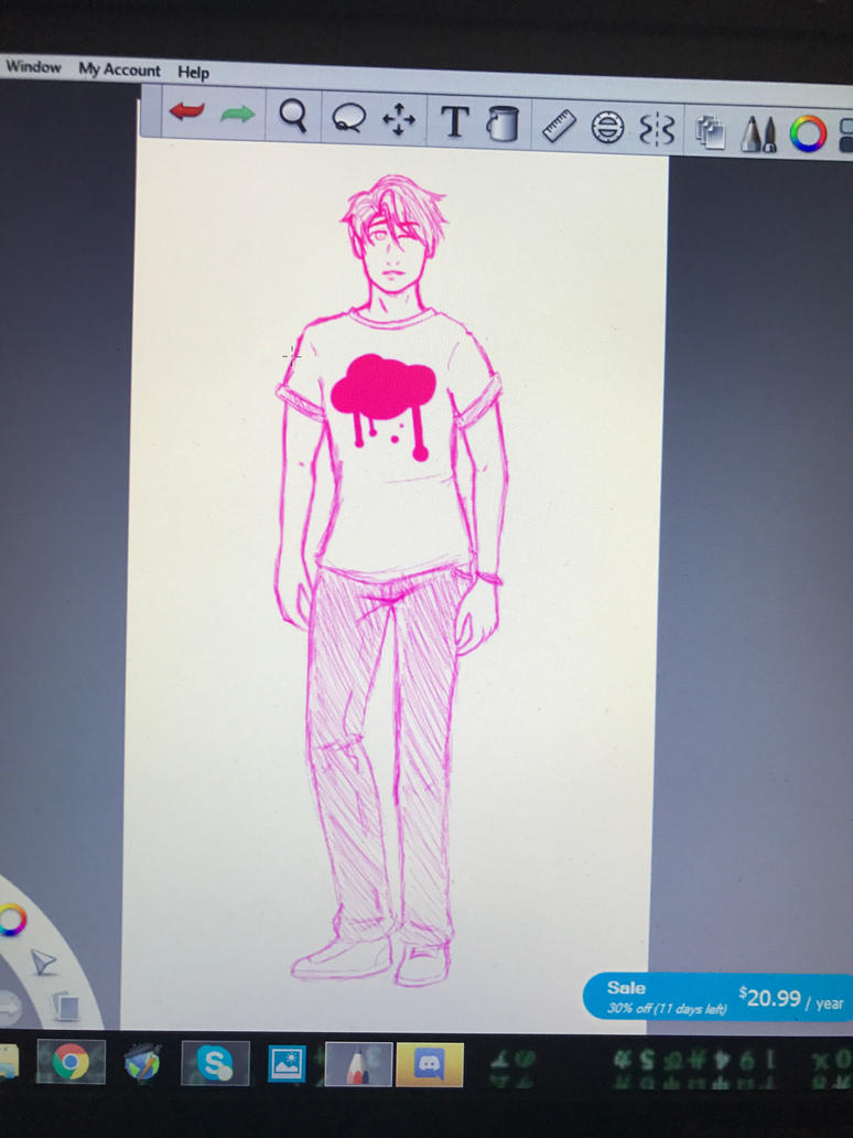Mark Sketch by GhostlyIntrovert