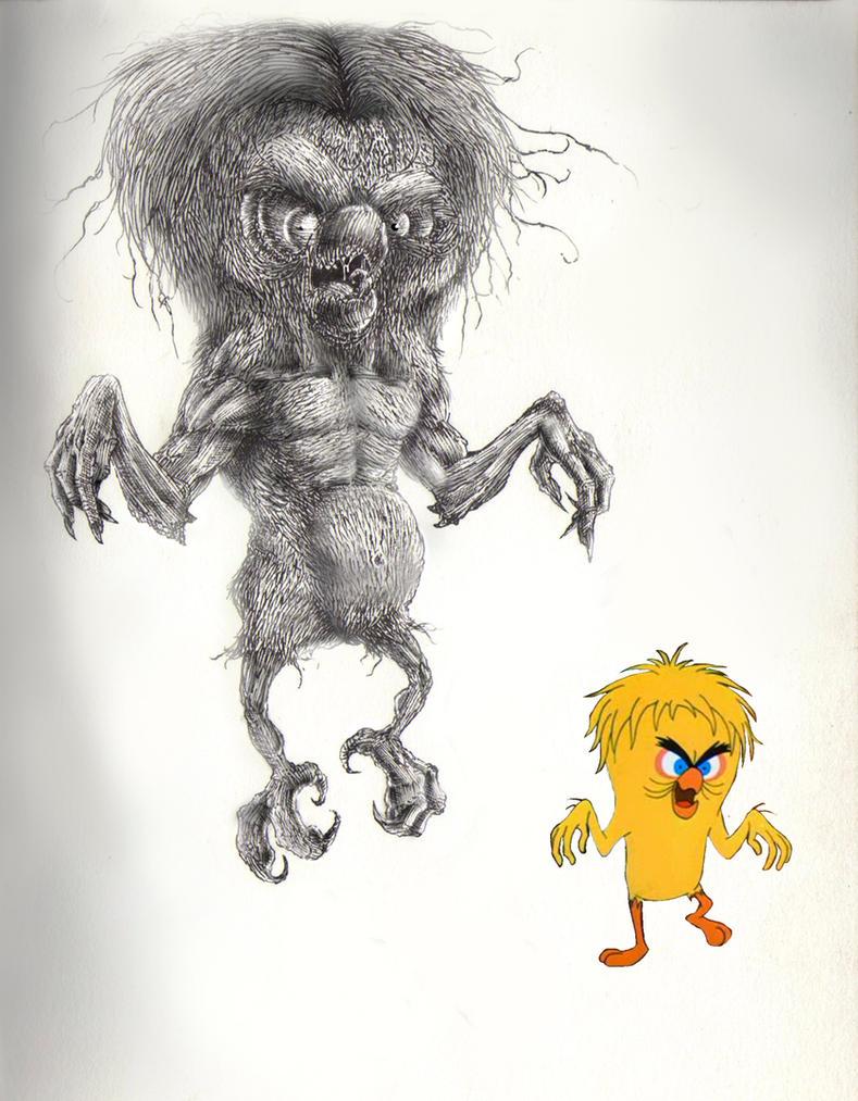 Monster Tweety/Piu-Piu Monstro by FranciscoNarde