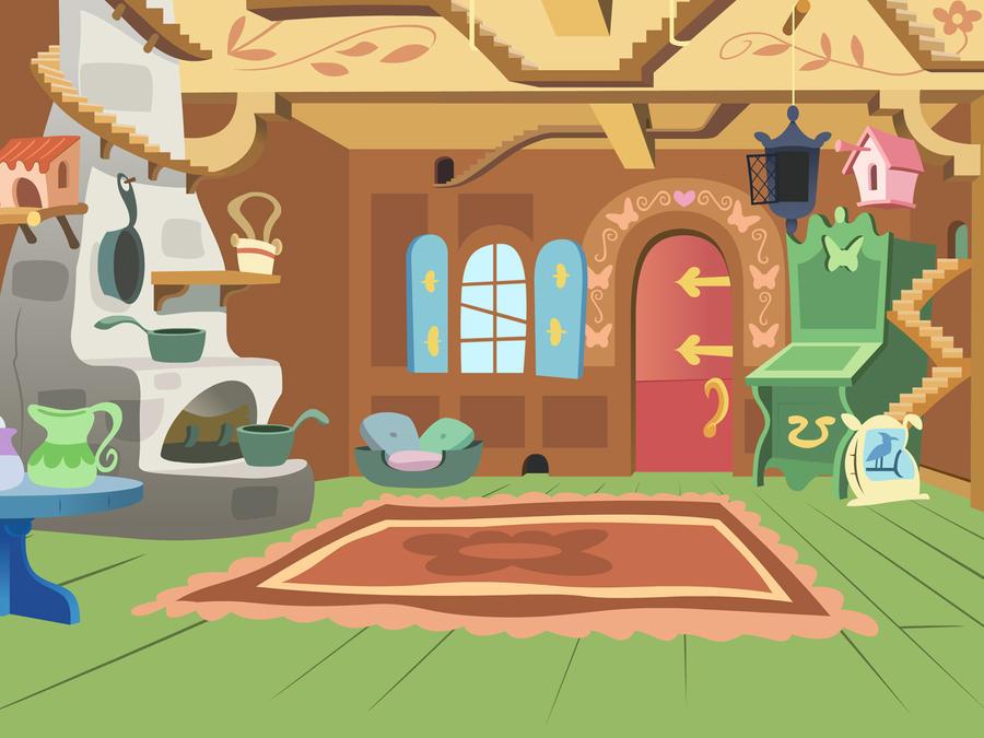 Fluttershys Cottage By BitterPlagueRat