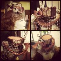 Steampunk Wedding Hat by Elorhan