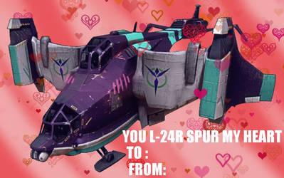 planetside 2 valentine's day card by sheenashark