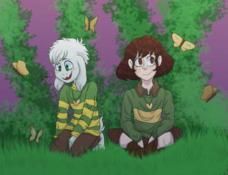 butterfly garden (open collab by shimmer-shy) by sheenashark