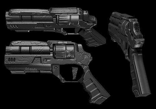 Futuristic Revolver by SuperGatorHator on DeviantArt