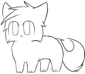 Free Feline Lineart 2 by flare0n-farms