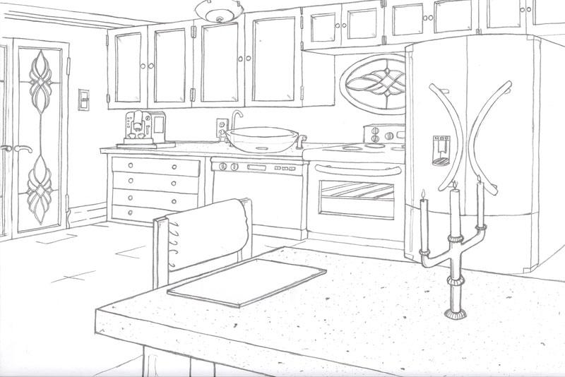 Kitchen drawing by sambraithwaite on deviantart for Kitchen design drawing