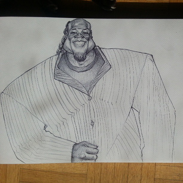 Kai greene by sambraithwaite on deviantart for Kai greene painting