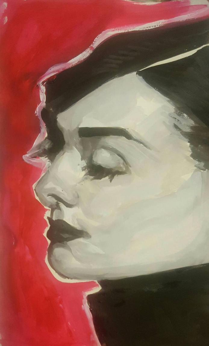 Squished Audrey Hepburn by sambraithwaite