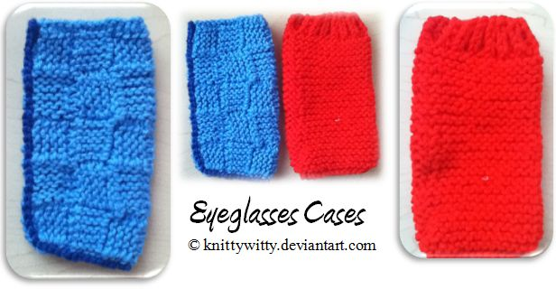 Eyeglasses Cases by knittywitty
