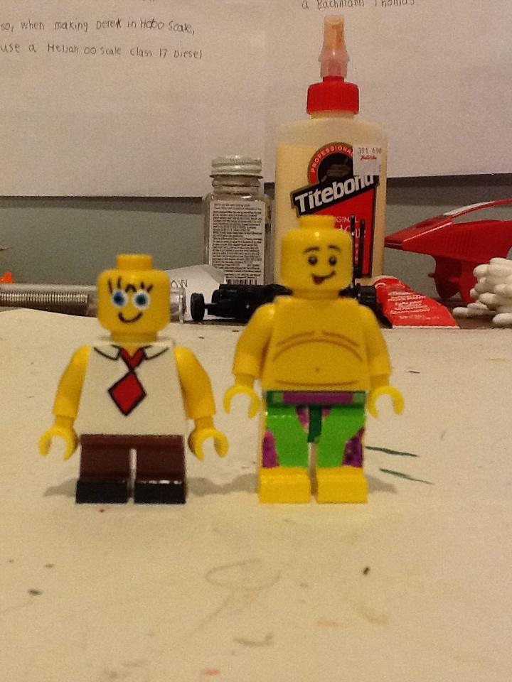 Lego Custom Human Spongebob And Patrick By Atb1996 On Deviantart