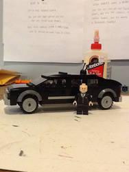 Lego custom DC Lex Luthor limo
