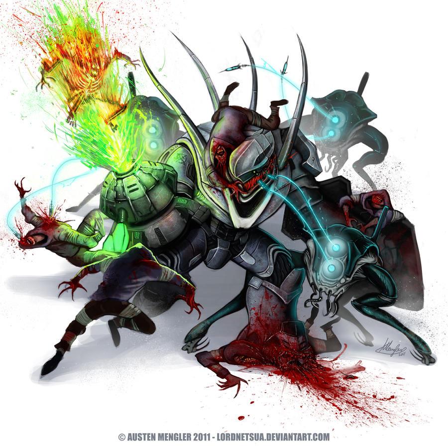 HUNTER FIGHT by LordNetsua