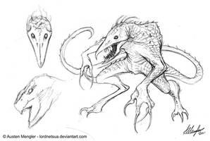 Creature Design: Initial concept sketch