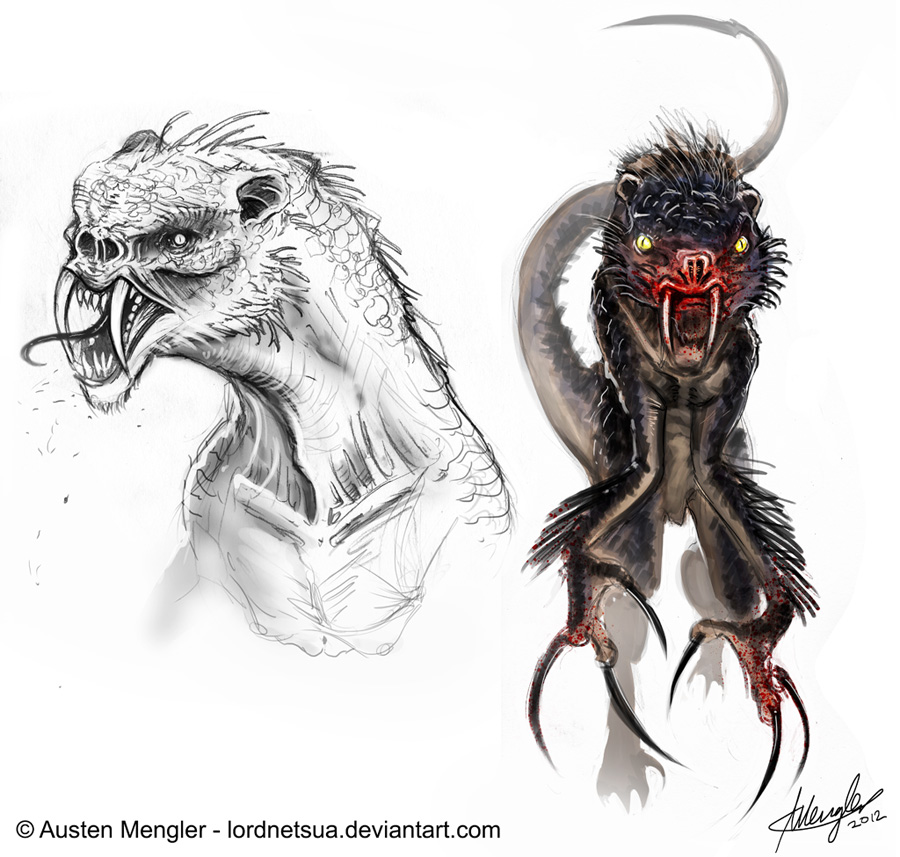 Creature Design: Final sketches by LordNetsua