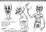 Candleman - Concept sketches pg 1 by AustenMengler