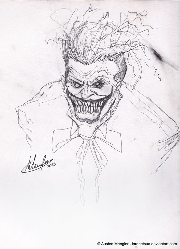 Joker pencils by AustenMengler