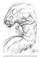 Zombilisk - sketch by AustenMengler