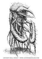 Ancient Hell Insect by AustenMengler