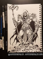 Skeletor - Inktober 05 2018 by AustenMengler