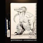 Velociraptor - Inktober 13 2018