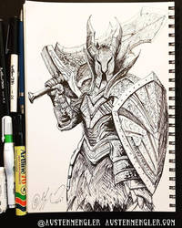 Black Knight - Inktober 18 2018 by AustenMengler